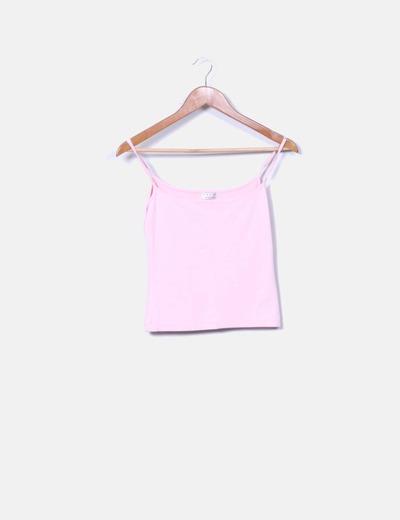 Camiseta rosa palo de tirantes Arcoiris