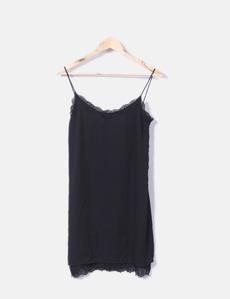 Vestido lencero negro Pimkie