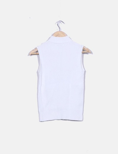 Chaleco tricot blanco
