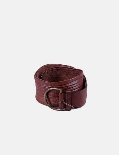 Cinturón marrón con hebilla Hoss Intropia