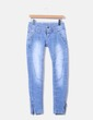 Jeans denim efecto desgastado NoName