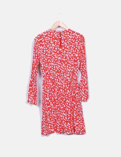 Vestido rojo estampado