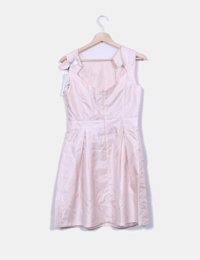 Vestido Rosa Pastel Satinado