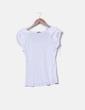 Camiseta blanca con volantes en los hombros H&M