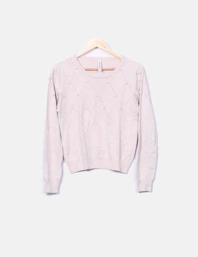 Pull couleur nude Springfield