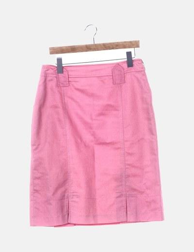 Falda rosa texturizada