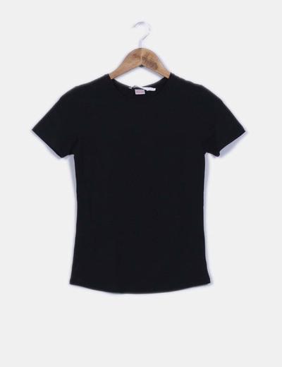 90c8a8094f5a5 Zara Camiseta negra básica manga corta (descuento 72%) - Micolet