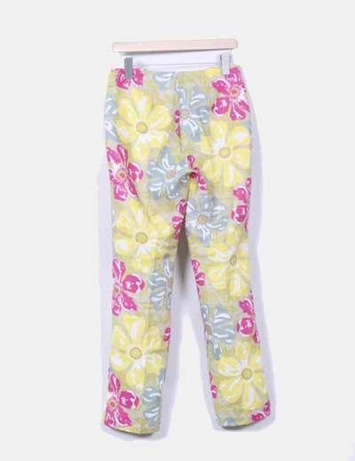 Pantalon estampado floreado multicolor