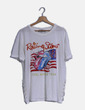 Camiseta blanca Rolling Stones lace up Rolling stones