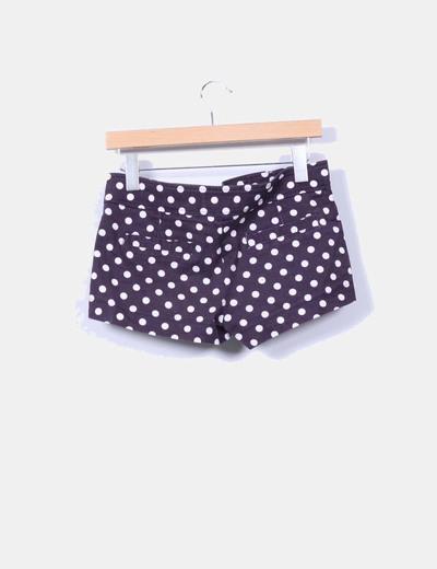 Shorts azul marino con topos