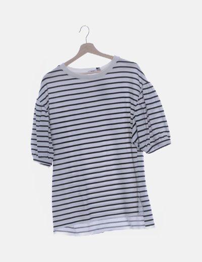 Camiseta oversize raya