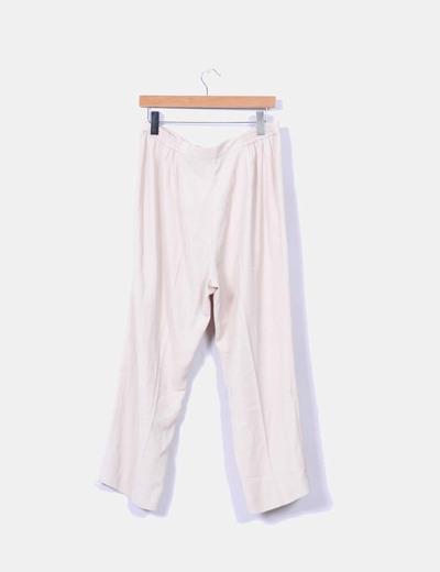Pantalon fluido beige