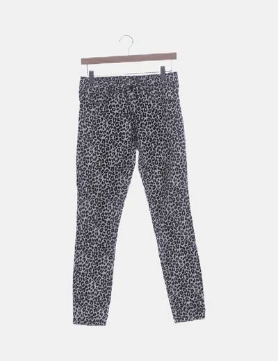 Jeans denim animal print