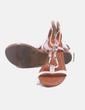 Sandalia bicolor detalle dorado Xti