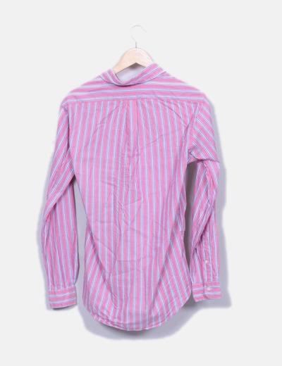 Camisa rosa de rayas