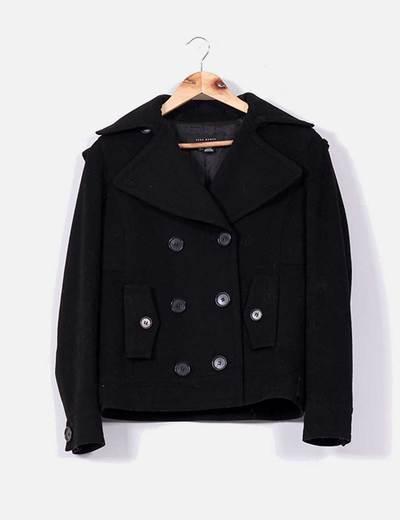 Chaqueta de paño negra Zara