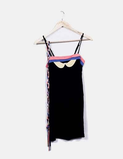 Good Look Schwarzes Kleid mit Trägern mit Gürtel (Rabatt 89 %) - Micolet 1f0fa489dd