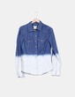 Camisa denim bicolor H&M