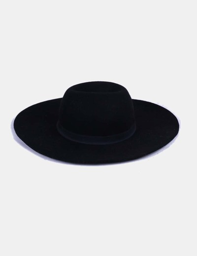 Sombrero fieltro negro Maison Scotch