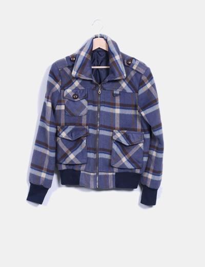 Veste à poches de flanelle à carreaux Easy Wear