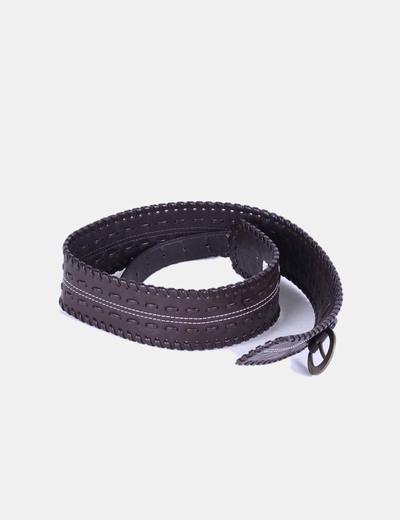 Cinturón marrón trenzado NoName