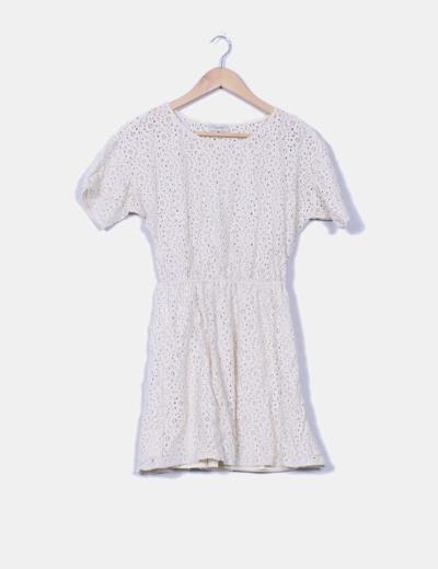 Vestido crudo crochet Pull&Bear