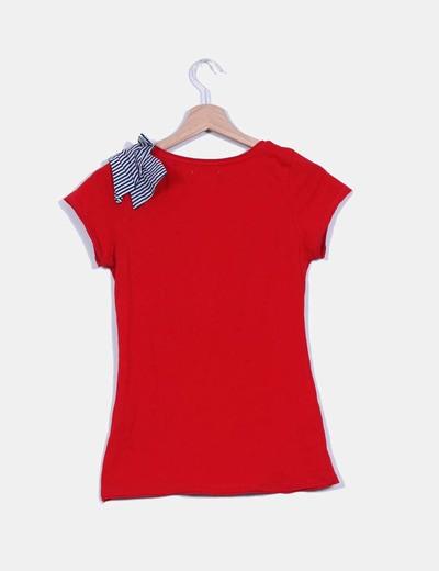 Camiseta roja print lazo
