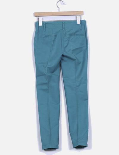 Pantalon de pinzas verde