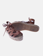Sandalia esparto marrón lace up Marypaz