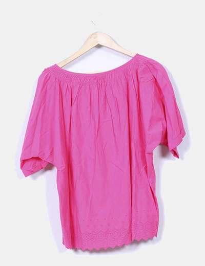Blusa rosa fucsia oversize