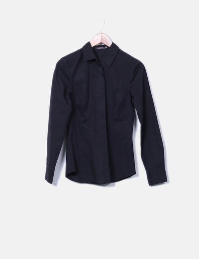 Chemise noire à manches longues Easy Wear
