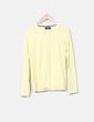 Suéter tricot largo amarillo Pull&Bear