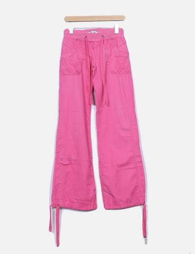 Pantalon rosa cinturilla goma Bershka
