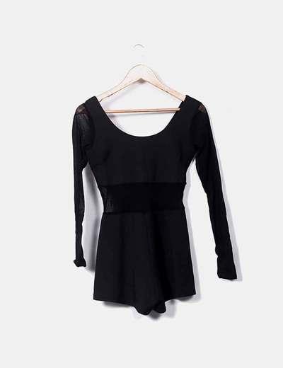 Black jumpsuit combined Boohoo