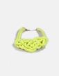 Collar cuerda amarillo fluor NoName