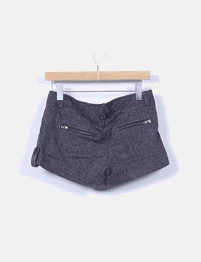 Shorts lana gris marengo