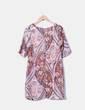 Robe de satin imprimé floral Anany