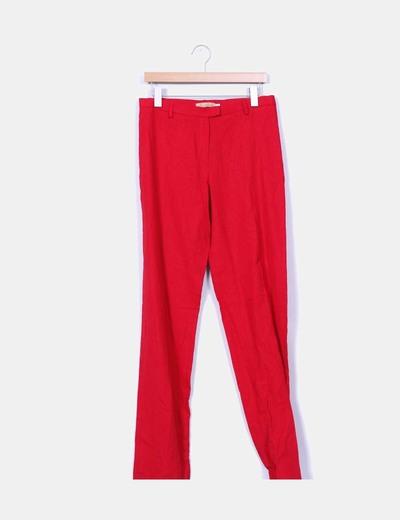 Pantalón rojo de lino  Miss Modas