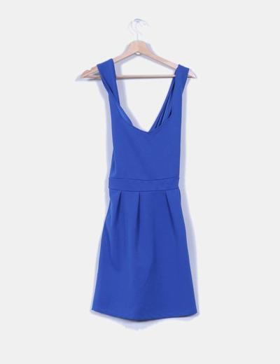 Vestido azulon tirantes cruzados