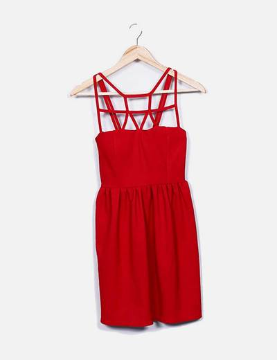 Vestido rojo bandage NoName