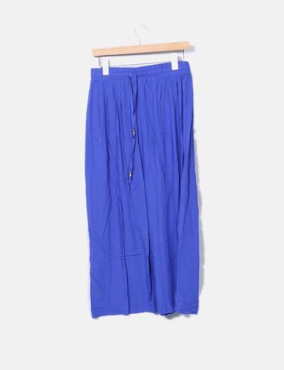 Falda maxi azul