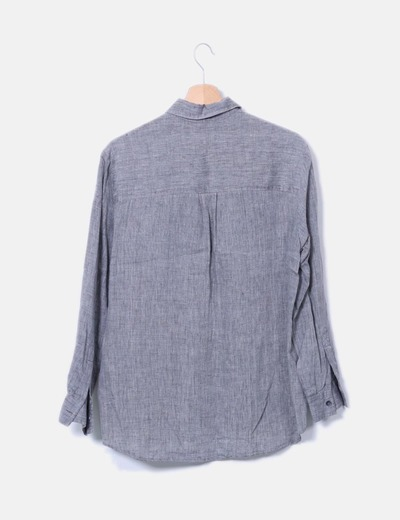 Camisa gris jaspeada