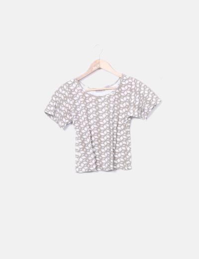 Camiseta bicolor crop