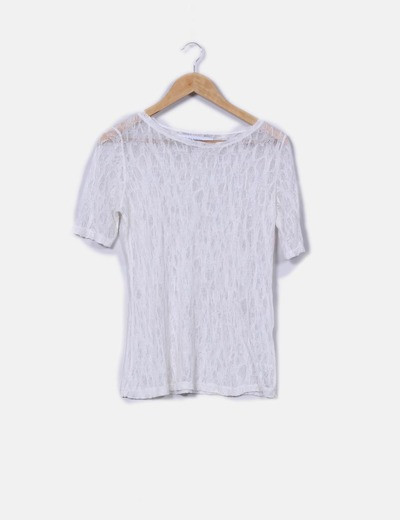 Top blanco de hilo Zara