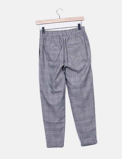 Pantalon estampado bicolor