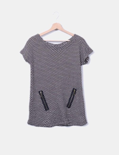 Jersey de punto combinado sin mangas detalle cremalleras NoName