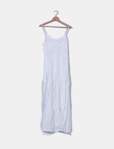 Vestido tirantes boho maxi blanco Suiteblanco