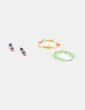 Conjunto de pulseras verdes y pendientes NoName