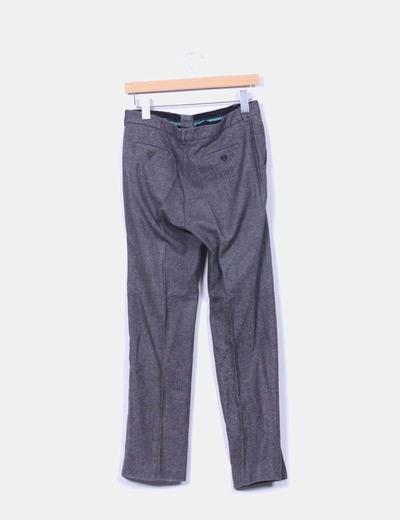 Pantalon de pinzas jaspeado