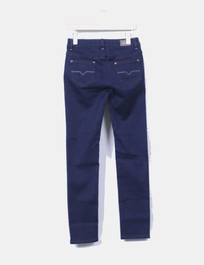 Pantalon denim elastico oscuro